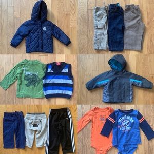 Bundle Mixed Lot of Boys Winter Coats & Clothes